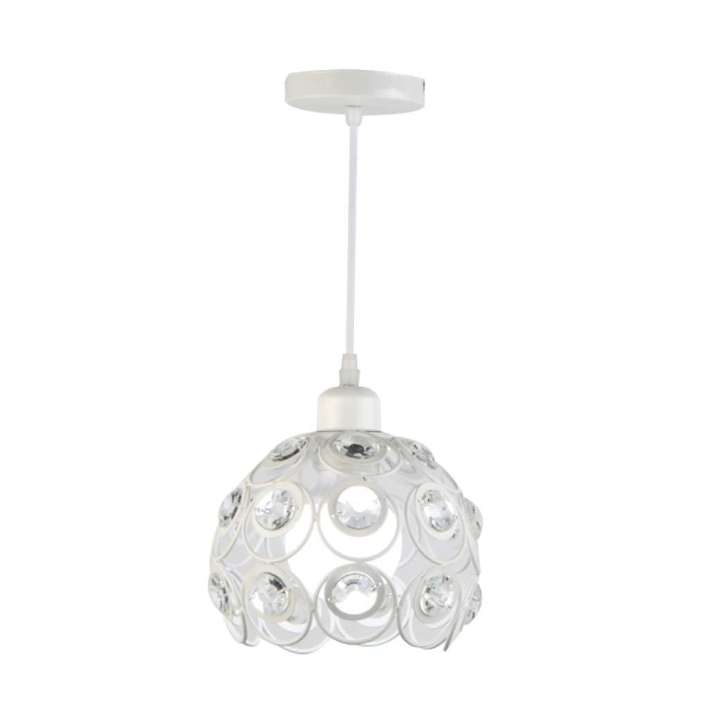 ArdL Kronleuchter Mini Pendelleuchte Downlight Painted Finishs Metallkristall, Mini Style 220-240V Glühlampe Nicht inbegriffen (Farbe   Weiß)