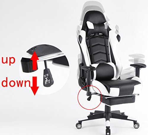 top gamer ergonomic gaming chair high back swivel computer office chair with footrest adjusting. Black Bedroom Furniture Sets. Home Design Ideas