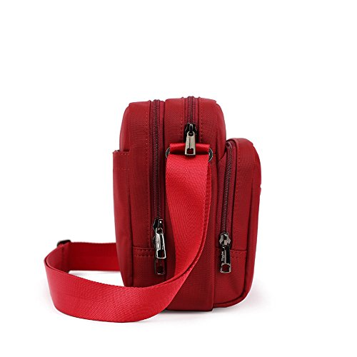 Rouge Loisir 11cm Sac Sacoche 20 Voyage 26 5 Bandoulière Petit Eshow Epaule Sac pour Femme Travail 1pPp8AZ