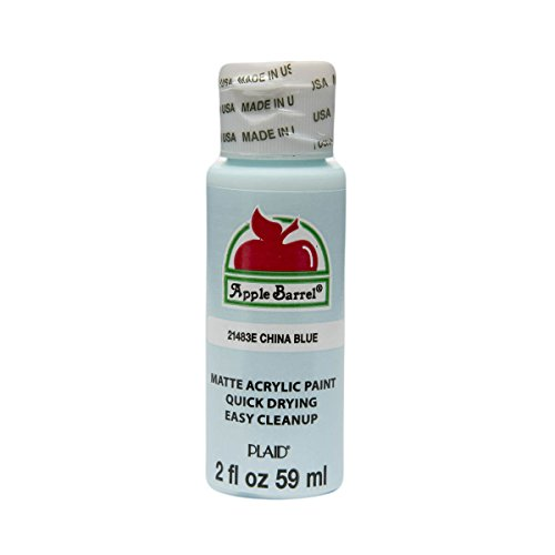 Apple Barrel Acrylic Paint in Assorted Colors (2 oz), 21483, China Blue