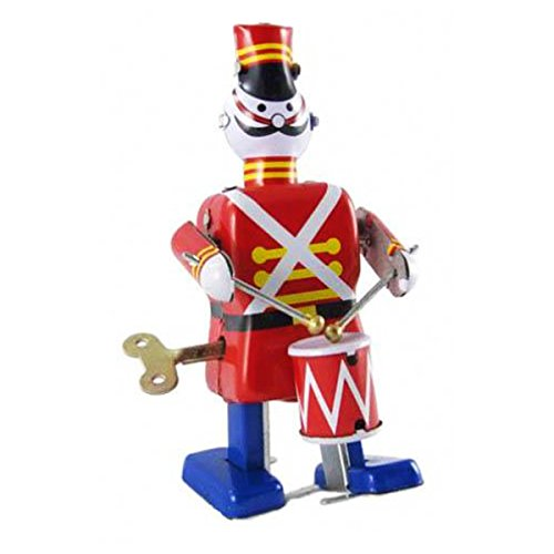 Off the Wall Toys Holiday Soldier Drummer Vintage Windup Retro Tin Toy