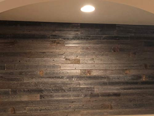Peel & Stick Rustic Reclaimed Barn Wood Paneling, Real Wood, Rustic Wall Planks - Easy Installation (3 Square FEET) by ROCKIN' WOOD