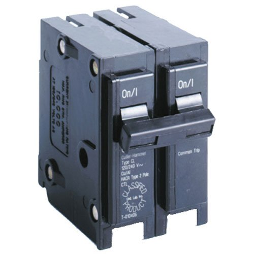 Amp Double Pole Breaker - Eaton Corporation CL240CS Double Pole Ul Classified Replacement Breaker, 240V, 40-Amp