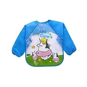Cute Cartoon animals Baby Bibs Long Sleeve Apron Smock Soft Feeding Waterproof Colorful children Bib Burp Clothes