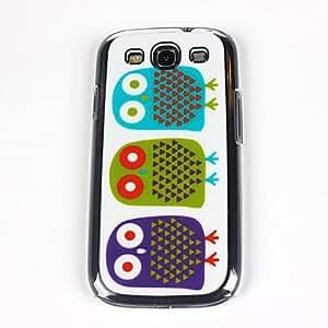 JJE Cute Owl Pattern PC Back Case for Samsung S3/I9300