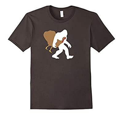 Bigfoot Thanksgiving Shirt, Funny Turkey Sasquatch Gift