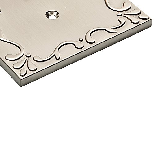 Franklin Brass W35072-SN-C Classic Lace Single Decorator Wall Plate/Switch Plate/Cover, Satin Nickel by Franklin Brass (Image #4)