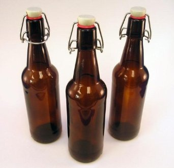 CASE OF 12 - 32 oz. EZ Cap Beer Bottles - AMBER - VINTAGE STYLE - HOME BREWING