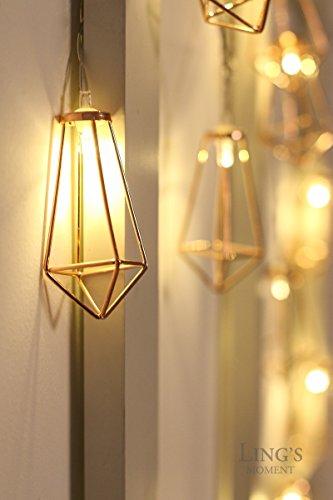 Ling S Moment 5ft Rose Gold Geometric Boho Led Bedroom Fairy Lights
