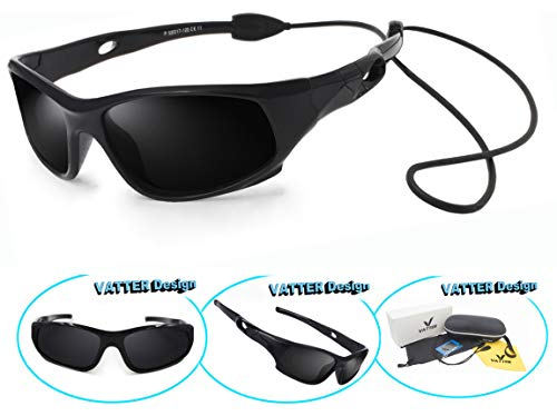 10bf0d29d0 VATTER TR90 Unbreakable Polarized Sport Sunglasses For Kids Boys Girls Youth