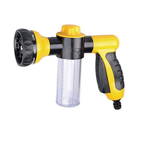 Aochol Water Sprayer Gun - Car Wash High Pressure Soap Sprayer - Pistol Grip Trigger Adjustable Spray Tool for Car Motorcycle Pets Plants Shower(Yellow)