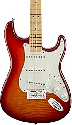 Fender Standard Stratocaster Electric Guitar - Flamed Maple Top - Maple Fingerboard