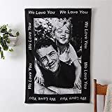 Personalized Photo Blanket with Custom Border - 30 x 40