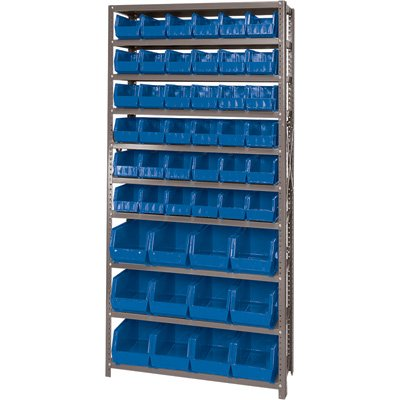 Quantum Storage Systems QSBU-230240BL Giant Open Hopper Steel Shelving System, 12
