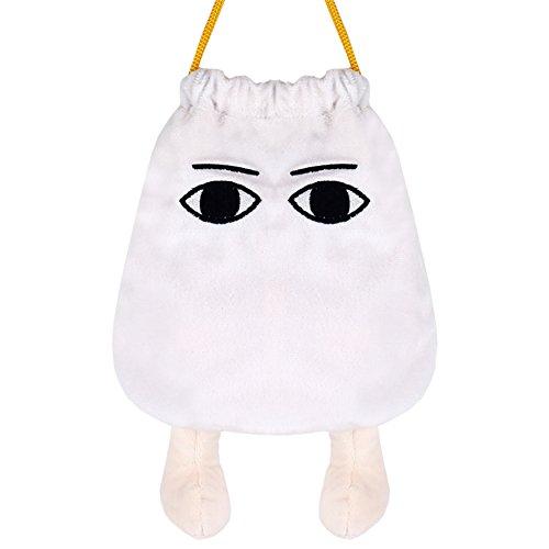 PANCY メジェド風 小物 収納袋 かわいい 巾着 スマホー 収納ポーチ 立体的 両面使える 16 * 17cm