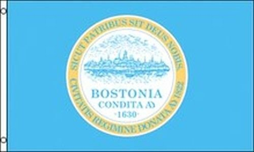 City of Boston Flag 3x5 ft Massachusetts Seal Emblem Banner Civic Mass MA State
