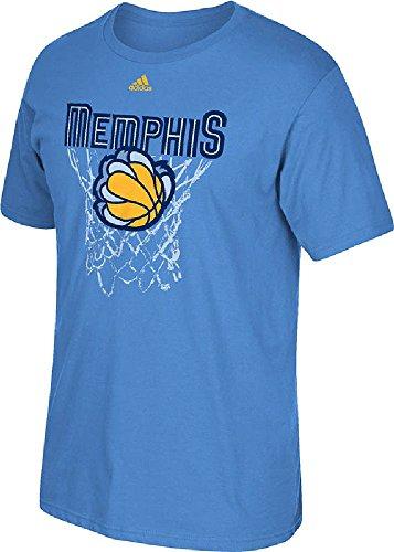 Memphis Grizzlies Lt. Blue 3rd Jersey Hook Tee Shirt by Adidas (L=44)
