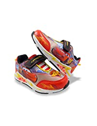 Disney Pixar Cars Boys Red Toddler Lighted Athletic Shoes Sneaker