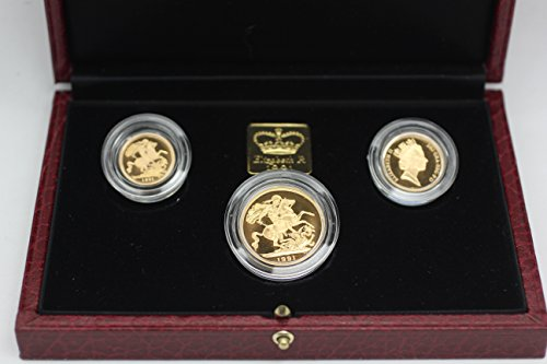 UK 1991 Gold United Kingdom Sovereign Set Proof