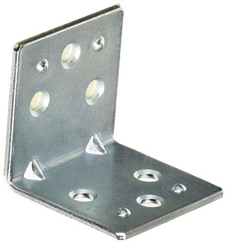 MINTCRAFT BH-6013L Corner Brace Double-Wide, 1-1/2-Inch, Zinc Double Wide Corner Brace