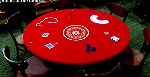 Felt Poker Table Cover Upgrade   Premium Velvet Poker Table Top For 36, 48.  Or 60 Inch Round Tables   Ideal Patio Tablecloth Cover   In Red, Blue,  Black, ...