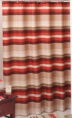 picture of Madison Stripe Fabric Shower Curtain