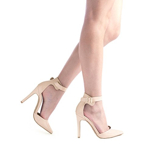 46665f0d98fea ... DREAM PAIRS Oppointed-Ankle Women's Pointed Toe Ankle Strap D'Orsay  High Heel Stiletto ...