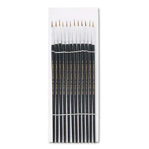 preferente Charles Leonard artista artista artista cepillo, tamaño 1, pelo de camello, rojoondo, 12 Pack  bajo precio del 40%