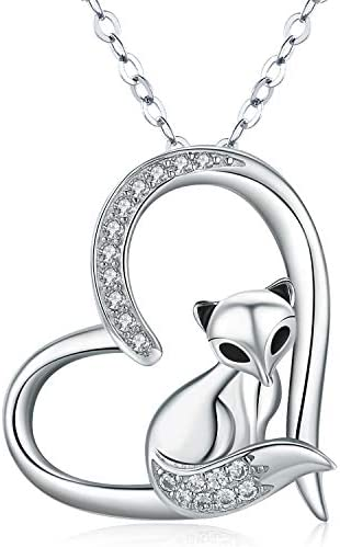 Silver Fox Pendant  Silver Bail  Silver Chain  Silver Sterling Wildlife Necklace  Fox Necklace  Sterling Silver Fox  Foxy Fox   1121-1153