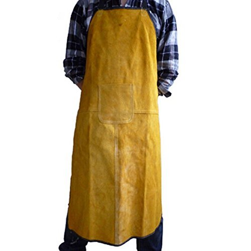 Holulo Extra Large Bib Apron Premium Split Cowhide Leather Work Welding Apron Safety Apparel 28-Inch X 39-Inch by Holulo (Image #3)