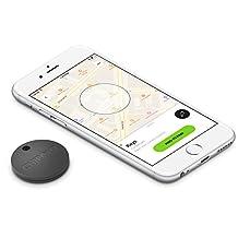 Chipolo Plus Smart Keyring Bluetooth Tracker, Phone Finder, Key Finder, Wallet Finder, Item Finder - Charcoal Black