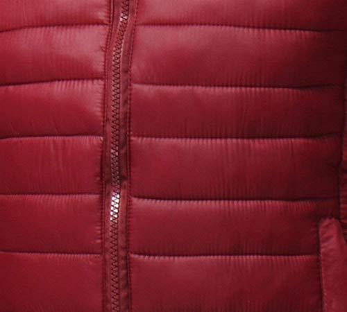 Uomini Giù Abbigliamento Manicotto Collare Caldo Del Trapuntata Lungo Packable Corta Del Inverno Parka Cappotto Ultraleggero Basamento Giacca Winered q4Sawpv
