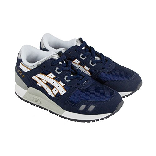 Price comparison product image ASICS Gel Lyte III PS Running Shoe (Toddler/Little Kid), Navy/White, 11 M US Little Kid