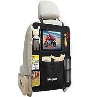 Backseat Organizer + iPad and Tablet Holder By Lebogner, X-Large Multifunctio...