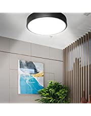 COFEMY Led-plafondlamp met bewegingssensor, radar bewegingsdetectief, plafondlicht, plat, rond, metaal, plafondlicht, 120 graden detective voor hal, gang, garage, trappen