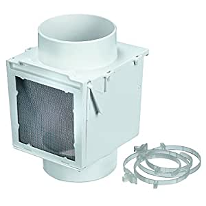 "Deflecto Dryer Heat Saver, 4"", White (EX12)"