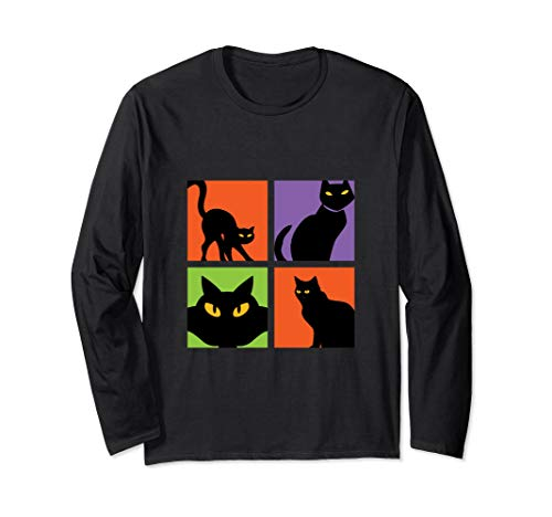 Black Cat Halloween T-shirt Witchcraft Spooky Superstition -