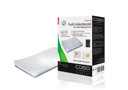 CASO Profi- Folienbeutel 20x30cm (1219)  / 50 Beutel für alle Balken Vakuumierer geeignet / Kochfest - Mikrowellen geeignet - Sous Vide geeignet / stabile Schweißnaht