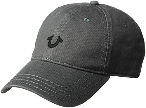 True Religion Men's CORE Logo Baseball Cap, Factory Grey, OSFA ()