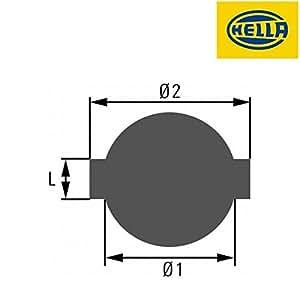 Hella 8XY 005 587-001 tapón para depósito de carburante
