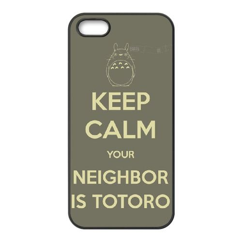 My Neighbor Totoro 004 coque iPhone 4 4S Housse téléphone Noir de couverture de cas coque EOKXLKNBC22946