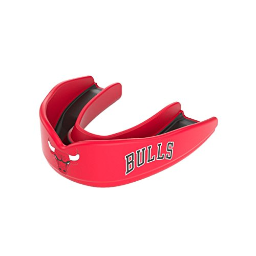 Shock Doctor 8300 NBA Chicago Bulls Basketball Mouth Guard, Red/Black, Youth by Shock Doctor