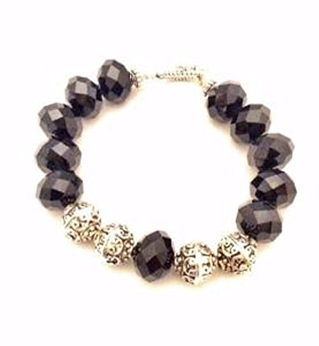(Black Onyx Toggle Bracelet)
