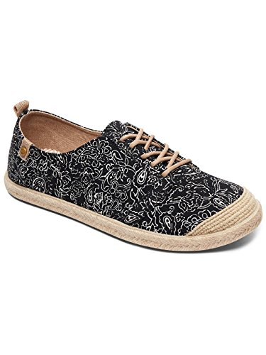 Lace Black Damen Sneaker Sneakers Roxy Flora Frauen Up HwqFxxtfZ0