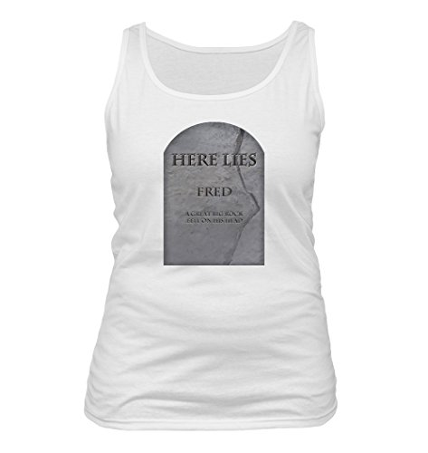 Fred #124 - Adult Women's Tank Top, White, XX-Large