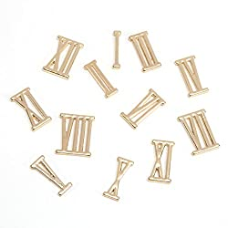 Darice DIY Gold Metal Roman Numeral Clock Numbers, 15 Piece