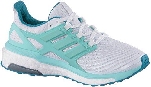 adidas Energy Boost W, Zapatillas de Running para Mujer, Morado Blanco (Ftwbla / Aquene / Petmis)