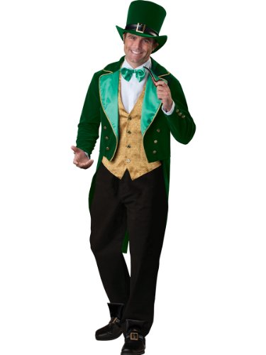 InCharacter Costumes Men's Lucky Leprechaun Costume, Green/Gold/White, (Lucky Leprechaun Adult Costumes)