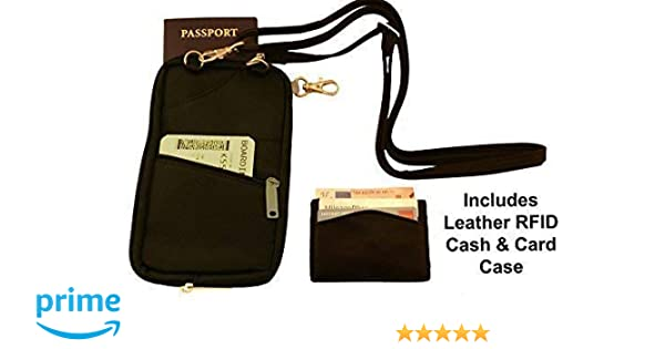 d4c686db58c2 Besafe Anti Theft Travel Wallet Phone Purse RFID Passport Holder and  Organizer with Detachable Security Strap + Leather Credit Card RFID  blocking ...