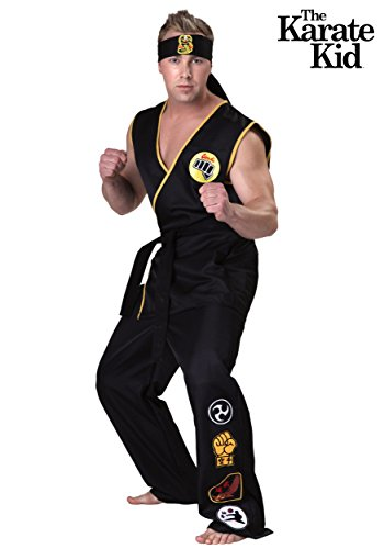 Fun Costumes Mens Karate Kid Cobra Kai Costume Medium (Karate Kid Costume)